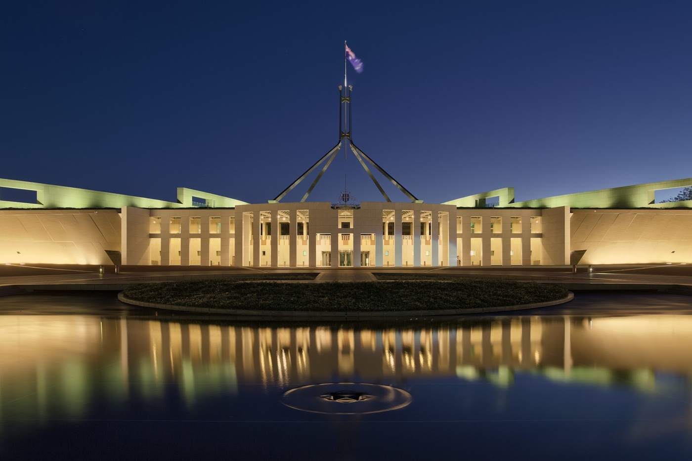 2048px Parliament House at dusk Canberra ACT