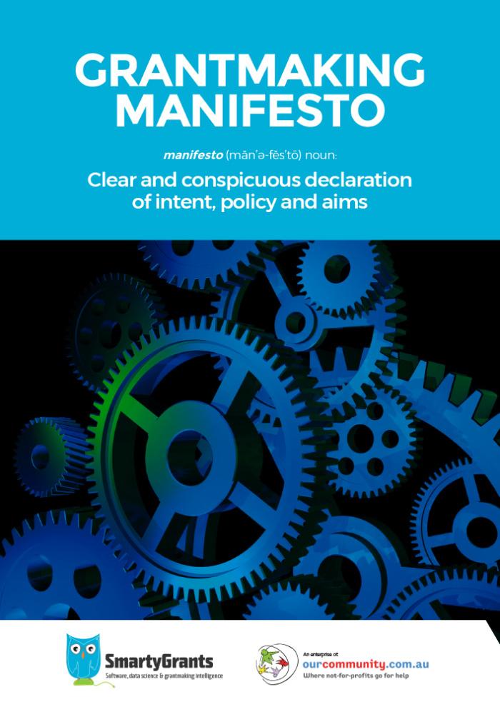Smarty Grants Manifesto Cover